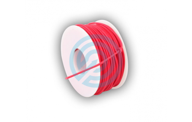 BCY D-LOOP ROPE 0,060 ROUGE BRAIDED POLYESTER 30 METRES