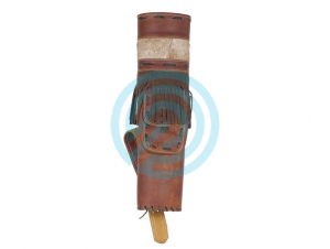 WHITE FEATHER BACK QUIVER STORM LEATHER BROWN